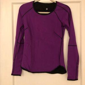 Lululemon Long Sleeve Reversible Purple/Black